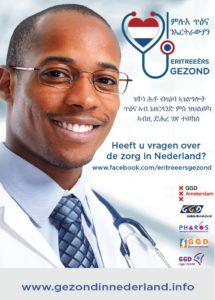 Flyer met beeltenis van arts